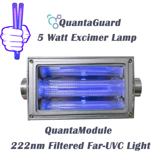 222-nm-far-uvc-light-Manufacturers-direct-QuantaModule-excimer-far-uvc-lamp-5-watt-24v-DC-power-supply-band-pass-filter-and-housing