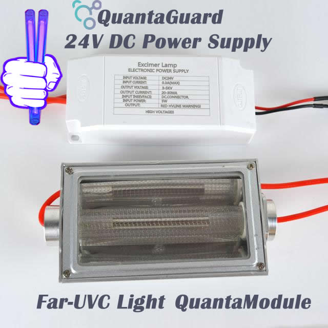222-nm-far-uvc-light-Manufacturers-direct-buy-QuantaModule-excimer-far-uvc-lamp-5-watt-lamp-24v-DC-power-supply-band-pass-filter-and-housing-kit